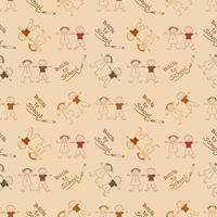 Back to School Kids hand drawn pattern background