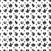 cute hallowen pattern background with dark color