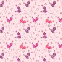 Happy birthday pattern Background with purple color