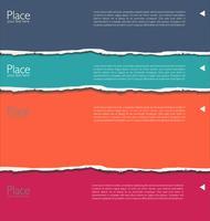 färgstarkt revet papper