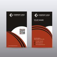 Modern Creative vertical Clean Business Card Template with Red B