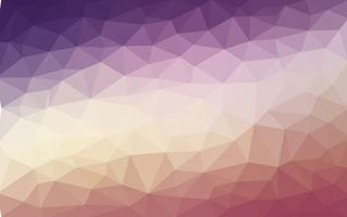 Light purple orange vector Low poly crystal background. Polygon