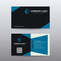 Modèle de carte de visite moderne créative et propre avec la couleur noire bleue. Vecteur entièrement éditable.