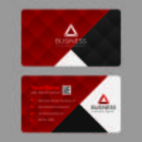 Geometric Red Business Card