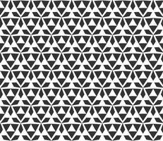 Nahtloses Muster des abstrakten geometrischen Dreiecks. Wiederholen der geometrischen Schwarzweiss-Beschaffenheit.