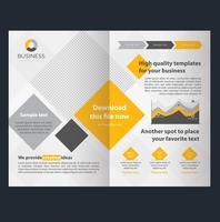 Plantilla de folleto - negocio amarillo