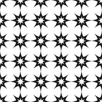 Vector seamless pattern. Black and white Repeating geometric star pattern