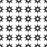 Vector seamless. Motivo a stelle geometrico ripetuto in bianco e nero