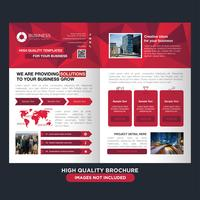 Brochure professionnelle Low Poly Red