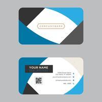 Elegant blauw visitekaartje
