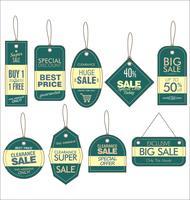 Etiqueta de precio de papel