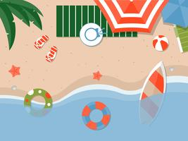 Summer vacation, Summer beach poster vector illustration