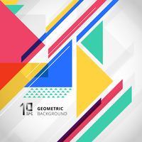 Geométrico colorido abstracto con los triángulos en el fondo blanco y el espacio de la copia.