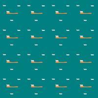 Vektor-Zahnbürste des nahtlosen Ikonendesigns des Musters. Illustration.
