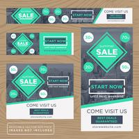 Green Adverstising Banner Collection vector