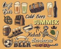 Grande conjunto de elementos para o design de posters vintage
