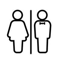 WC Room Icon Vector