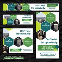 Green Advertising Banner Collection