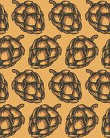 Seamless pattern of hop cones