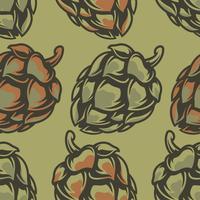Motif de couleur avec houblon