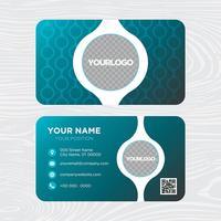 Blauw visitekaartje ontwerp