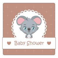 Baby shower card con koala carino