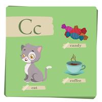 Colorful alphabet for kids - Letter C