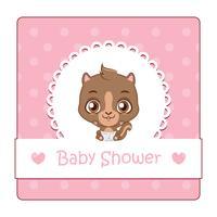 Signe mignon pour bébé douche avec écureuil