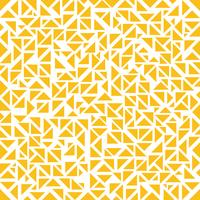 Abstract yellow triangles random pattern on white background.
