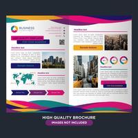 Färgglada Business Fold Broschyr