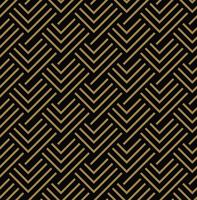 Seamless pattern with squares, black gold diagonal braided strip vector