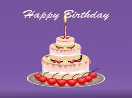 Concetto di design torta buon compleanno. illustrazione vettoriale