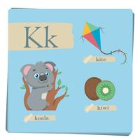 Colorful alphabet for kids - Letter K