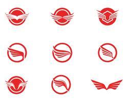 Vettore del modello di Logo di Wing Falcon