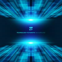 Abstract blue virtual technology concept futuristic digital perspective background with space for your text. vector