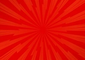 Priorità bassa di luce solare comica astratta rossa del fumetto. Disegno dell'illustrazione di vettore