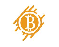 Modèle de vecteur de logo Bitcoin