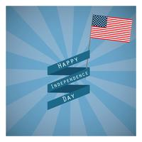 Independence Day greeting with radiant pattern background