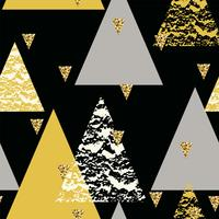 Modelo inconsútil geométrico abstracto con texturas dibujadas mano.