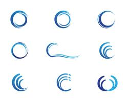 C wave logo vector illustration design