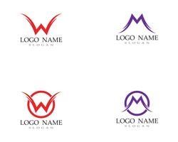 W M Letter Logo Business Template Vector
