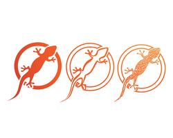 Lézard caméléon gecko silhouette noir