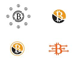 Bitcoin logo vector template