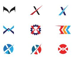 X brief Logo sjabloon vector pictogram