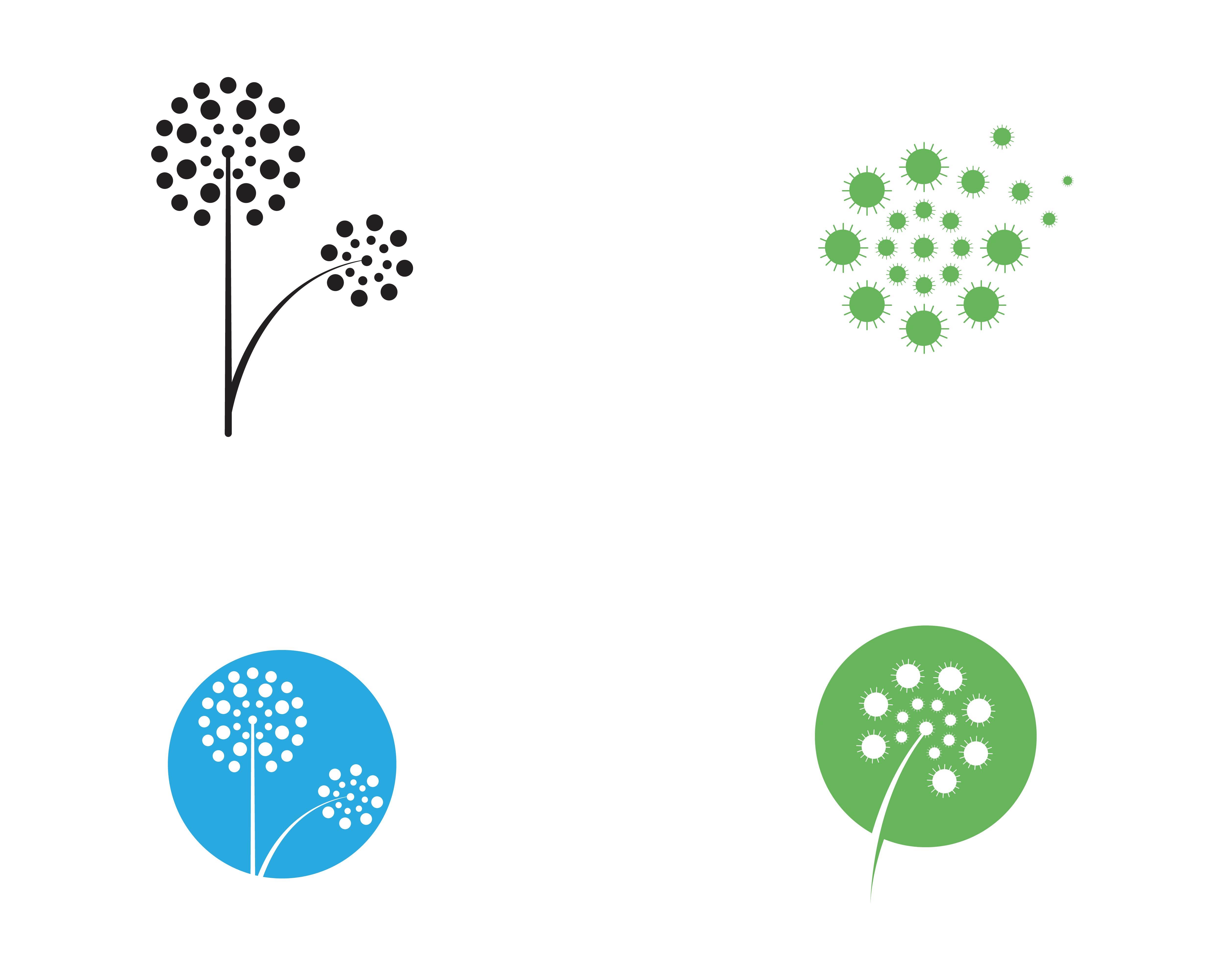 Dandelion Flower Logo Vector Template Vector Download Free