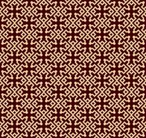 Seamless linear pattern with elegant curved lines and scrolls ornamental wallpaper. vector
