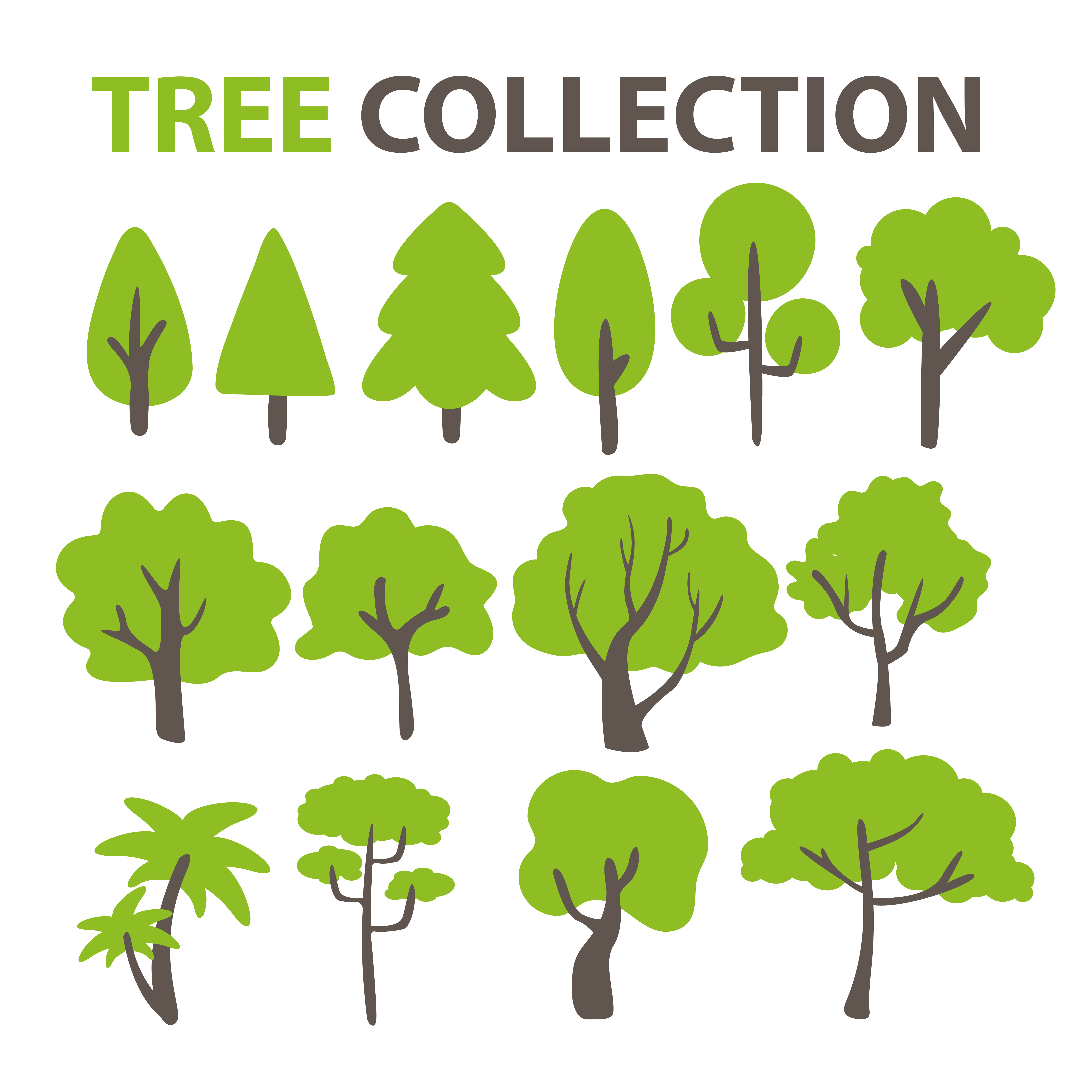 Flat Tree Collection For Decorating The Background Of A Cartoon Tree Download Free Vectors Clipart Graphics Vector Art When designing a new logo you can be inspired by the visual logos found here. vecteezy