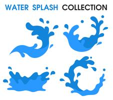 Icono de salpicaduras de agua Estilo de dibujos animados simple.