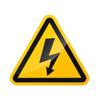 Vector sign warning signs of high voltage hazard Isolated on a white background