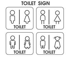 Aseo de hombres y mujeres firman temas de iconos que parecen simples y modernos. Vector de ilustración EPS10.